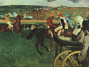 Edgar Degas painting At the Races0202