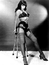 Bettie Paige photograph in black and white