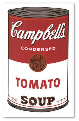 Campbells soup 1 , print by Andy warhol