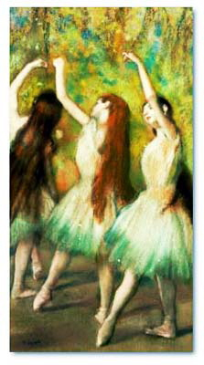 Green Dancers by Degas