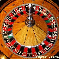 Photo of a roulette wheel