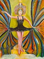 black tutu , dance art painting