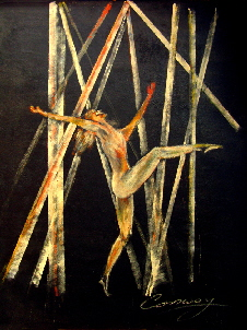 painting of contemporary ballet