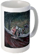 greyhound dog racing gift ceramic mug