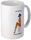 collectors mug with classic pinup painting of nude girl