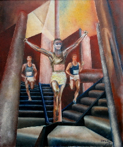 original oil painting, figure painting by Tom Conway