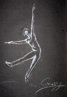 silhouette dancer