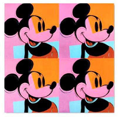 mickey mouse art print by Andy warhol04