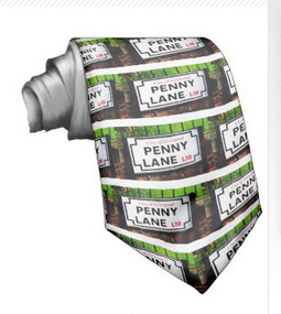 penny lane beatles music tie design