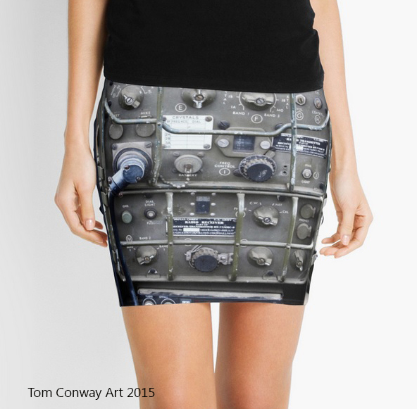 pencil skirt featuring vintage radio design  by Tom Conway